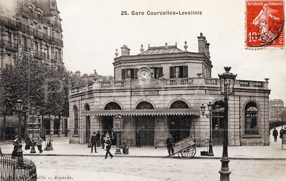 Gare Courcelles-Lavallois - Paris - Ile-de-France, carte postale