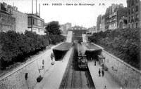 Gare de Montrouge - Paris - Ile-de-France, carte postale ancienn